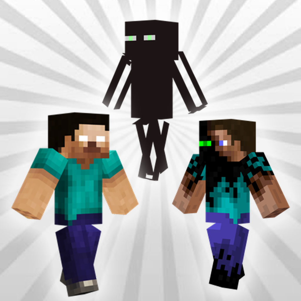 Herobrine And Enderman Skins For Minecraft IOS App NuApps - Skins para minecraft pe herobrine